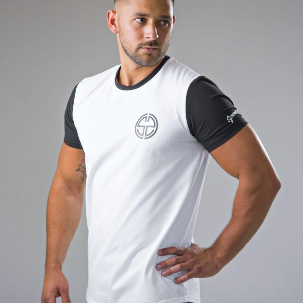 mens black and white t-shirt 7 | symmetry athletics